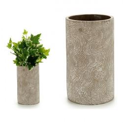 Vase Rayures Ciment (15 x...