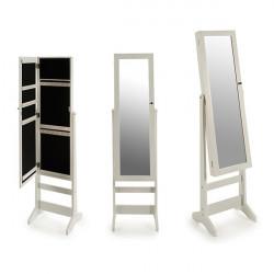 Miroir sur pied Blanc (30 x...