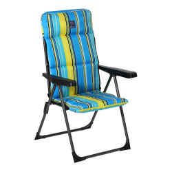 Chaise de plage Oxford Bleu...