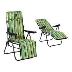 Chaise de plage Oxford Vert...